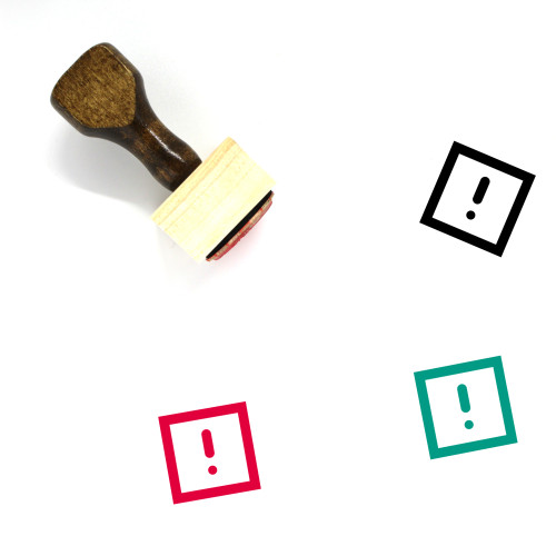 Attention Wooden Rubber Stamp No. 73