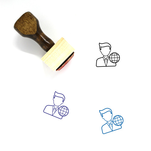 World Representative Wooden Rubber Stamp No. 1