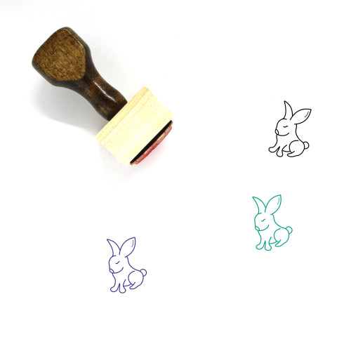 Rabbit Wooden Rubber Stamp No. 278