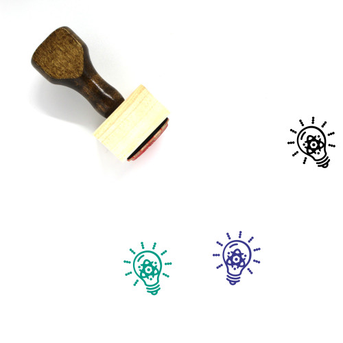 Light Bulb Wooden Rubber Stamp No. 373