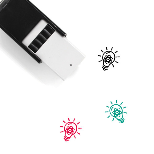 Light Bulb Self-Inking Rubber Stamp No. 373