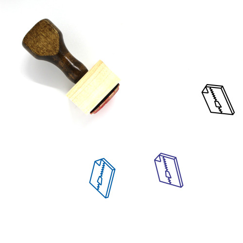 Compressed File Wooden Rubber Stamp No. 21