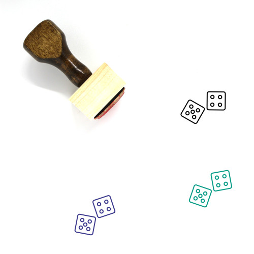 Dice Wooden Rubber Stamp No. 175