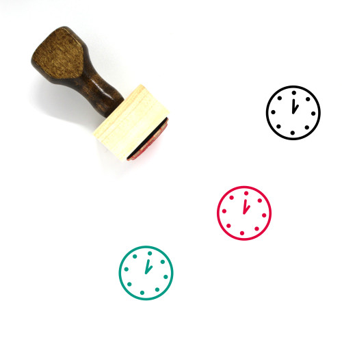 One O'clock Wooden Rubber Stamp No. 15