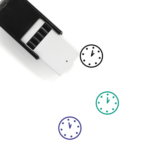 One O'clock Self-Inking Rubber Stamp No. 15