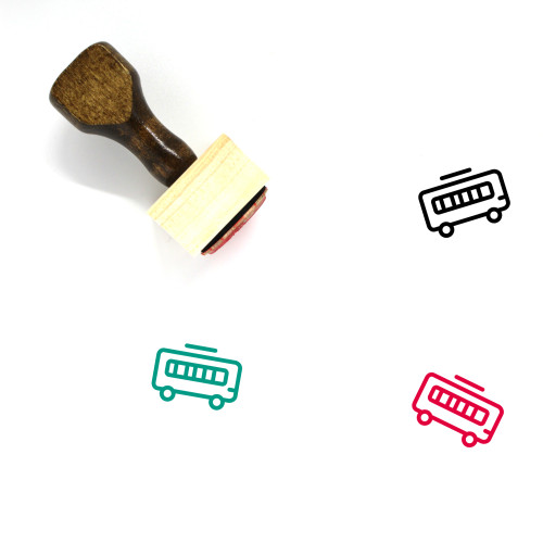 Bus Wooden Rubber Stamp No. 156