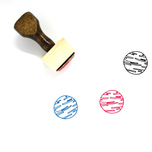 Planet Wooden Rubber Stamp No. 298
