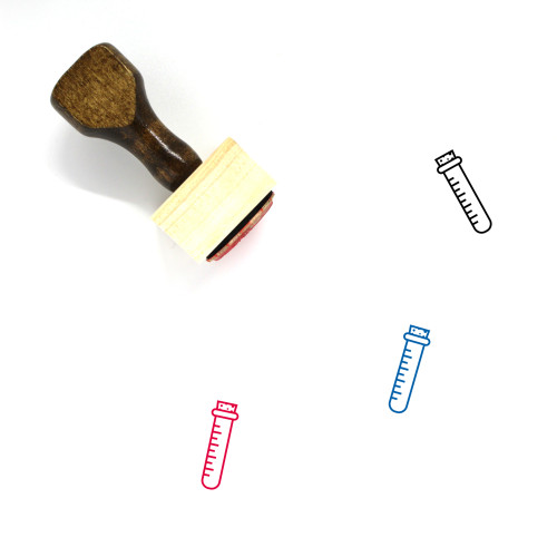 Test Tube Wooden Rubber Stamp No. 64