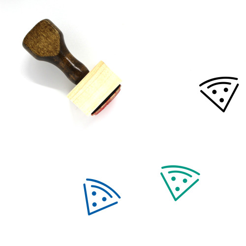 Pizza Wooden Rubber Stamp No. 167