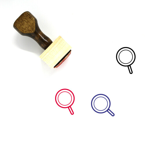 Magnifying Glass Wooden Rubber Stamp No. 281