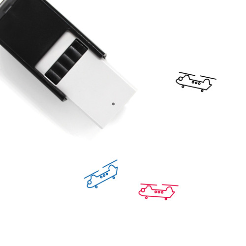 Helicopter Self-Inking Rubber Stamp No. 17