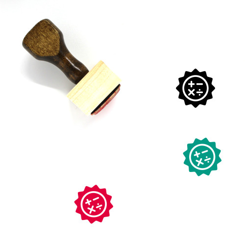 Calculator Wooden Rubber Stamp No. 168