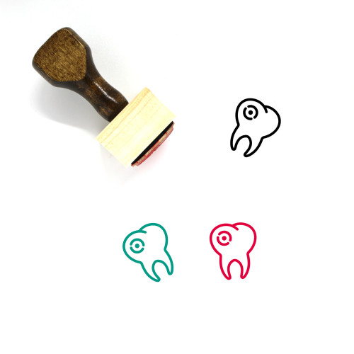 Decayed Tooth Wooden Rubber Stamp No. 19