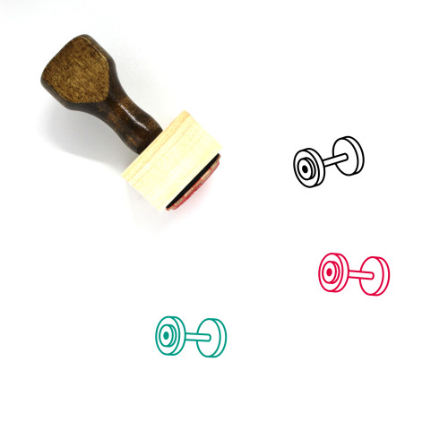 Dumbbell Wooden Rubber Stamp No. 58
