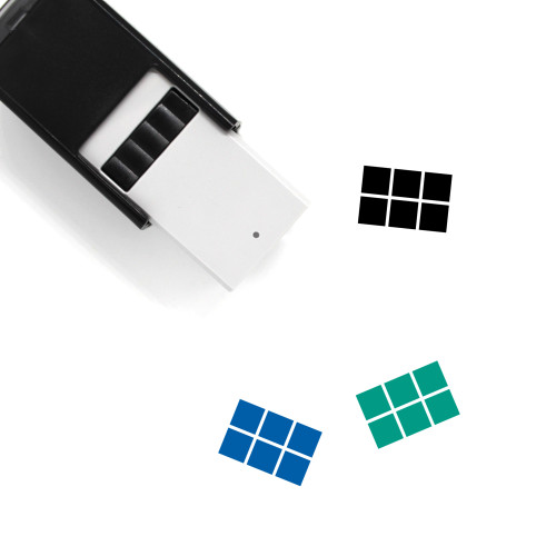 Swatches Self-Inking Rubber Stamp No. 6