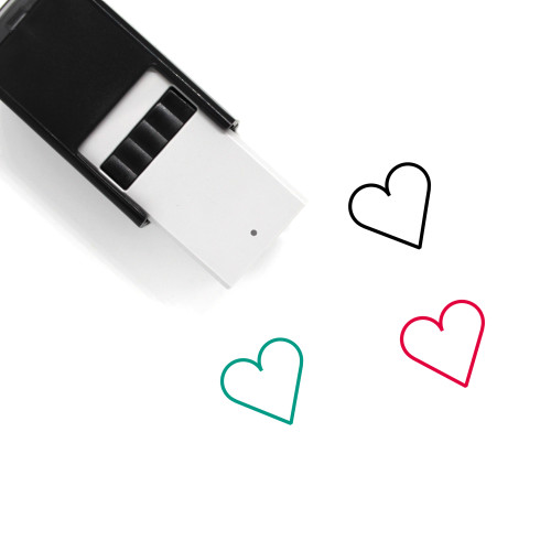 Heart Self-Inking Rubber Stamp No. 1148