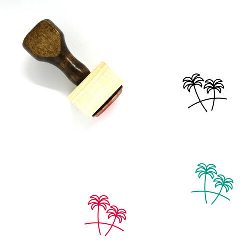 Caribbean Wooden Rubber Stamp No. 3