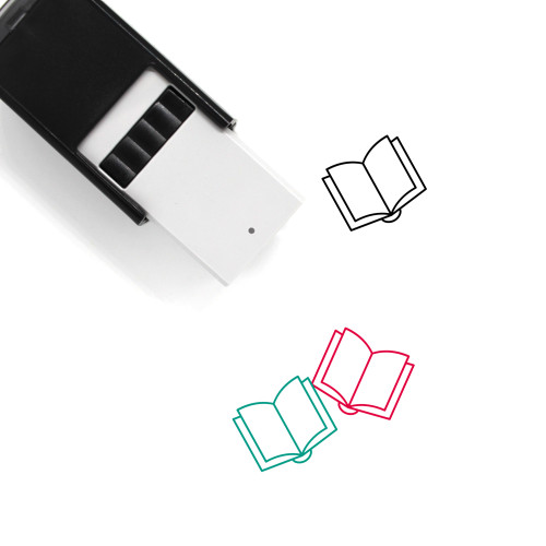 Book Open Self-Inking Rubber Stamp No. 14