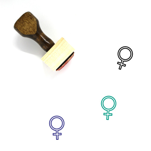 Female Wooden Rubber Stamp No. 270