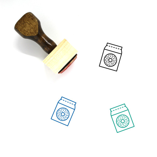 Doughnuts Wooden Rubber Stamp No. 26