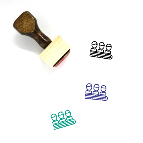 Human Resource Wooden Rubber Stamp No. 79