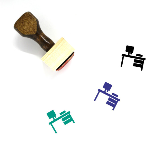 Work Table Wooden Rubber Stamp No. 25
