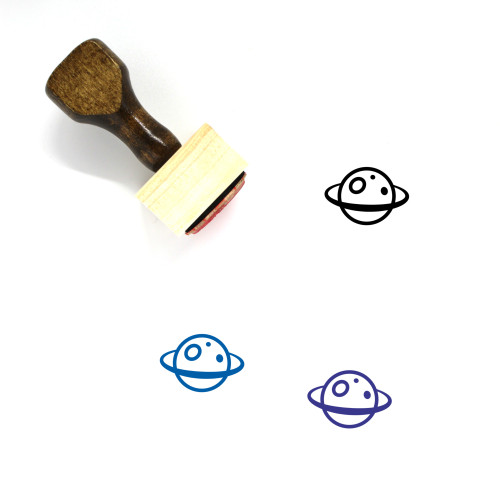 Planet Wooden Rubber Stamp No. 299