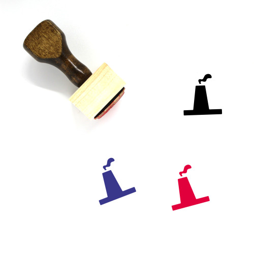 Factory Wooden Rubber Stamp No. 136