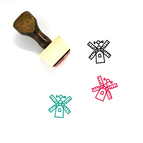Windmill Wooden Rubber Stamp No. 53