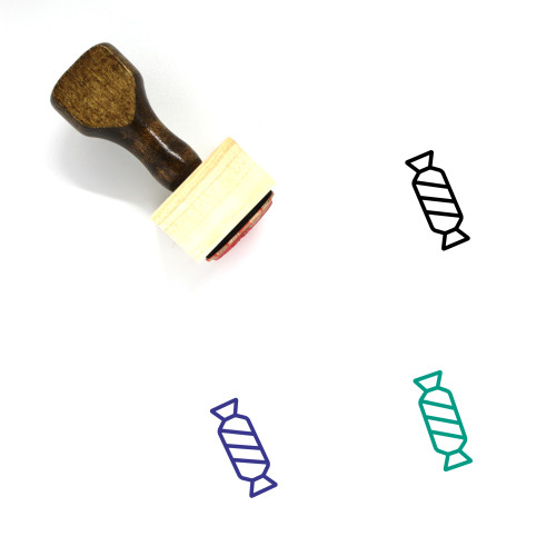 Candy Wooden Rubber Stamp No. 178