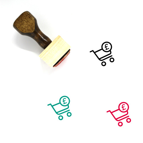 Shopping Cart Wooden Rubber Stamp No. 319