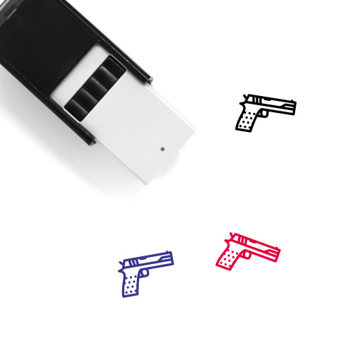 Pistol Self-Inking Rubber Stamp No. 51