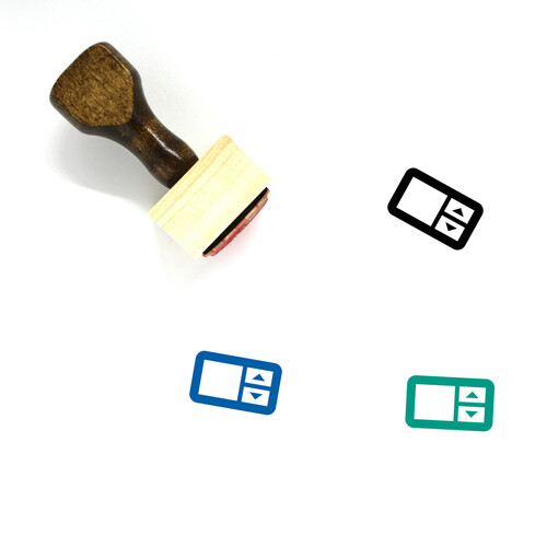 Number Field Wooden Rubber Stamp No. 1