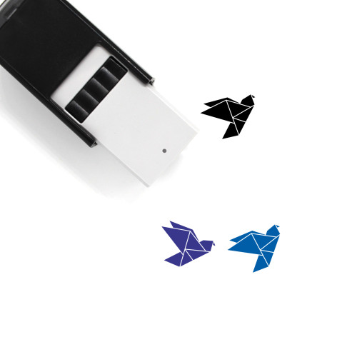 Origami Bird Self-Inking Rubber Stamp No. 31