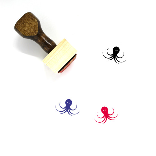 Kraken Wooden Rubber Stamp No. 15