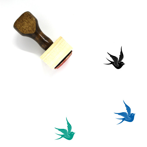 Swallow Wooden Rubber Stamp No. 6