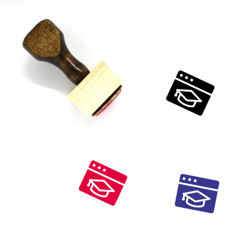 Browser Education Wooden Rubber Stamp No. 2