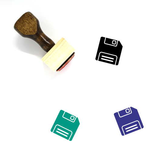 SD Card Wooden Rubber Stamp No. 83