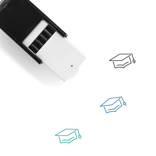 Square Academic Cap Self-Inking Rubber Stamp No. 5