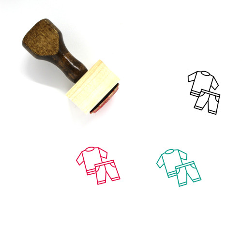 Clothing Wooden Rubber Stamp No. 110