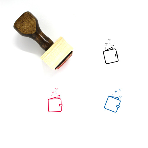 Empty Wallet Wooden Rubber Stamp No. 5