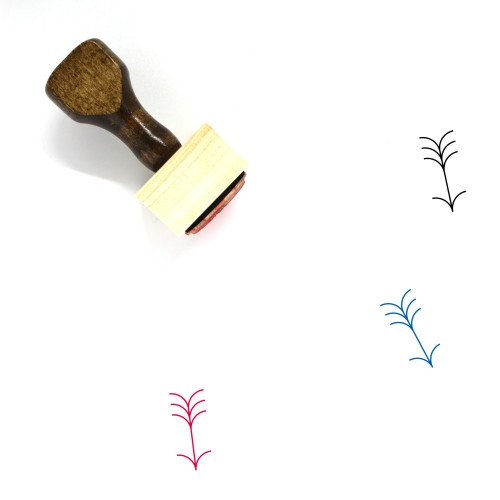 Arrow Down Wooden Rubber Stamp No. 69