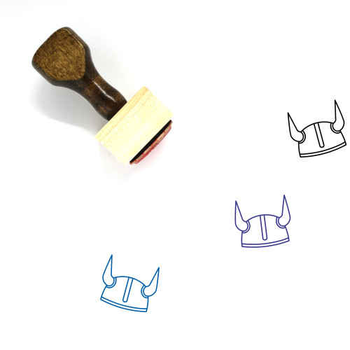 Vikings Wooden Rubber Stamp No. 7