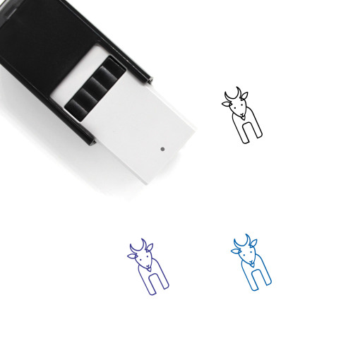 Goat Self-Inking Rubber Stamp No. 40
