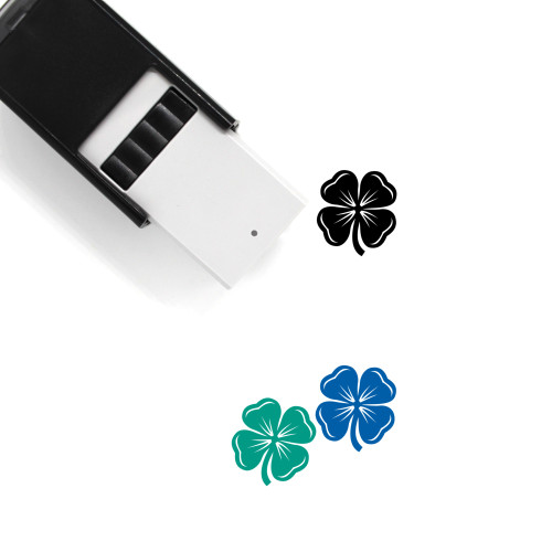 Four Leaf Clover Self-Inking Rubber Stamp No. 48
