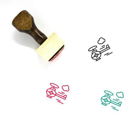 Air Ambulance Wooden Rubber Stamp No. 29