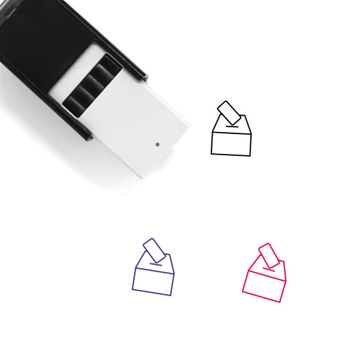 Voting Urn Self-Inking Rubber Stamp No. 9