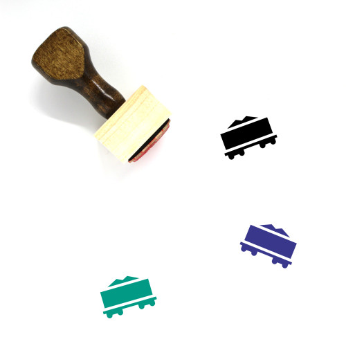 Train Wooden Rubber Stamp No. 178