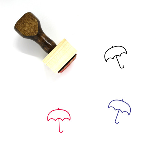Umbrella Wooden Rubber Stamp No. 211