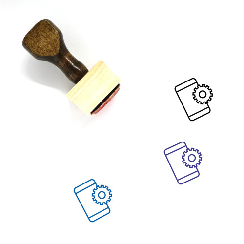 Mobile Settings Wooden Rubber Stamp No. 74